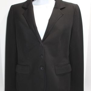 Recent SALVATORE FERRAEGAMO Black Career Blazer 10